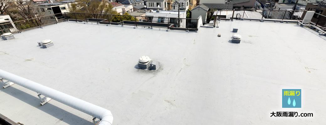 屋上の雨漏り修理